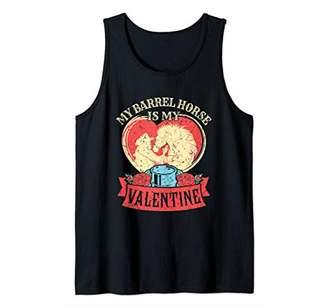 My Barrel Horse Is My Valentine - Barrel Racing Horse Tank Top