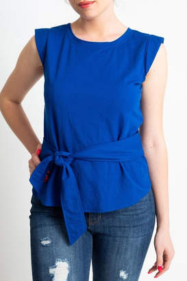 Glam Back Wrap Top