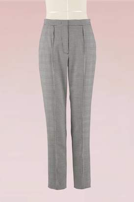 MSGM Mixed check cool wool Trousers