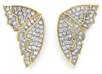 Bloomingdale's Diamond Butterfly Wing Stud Earrings in 14K Yellow Gold, 0.50 ct. t.w. - 100% Exclusive