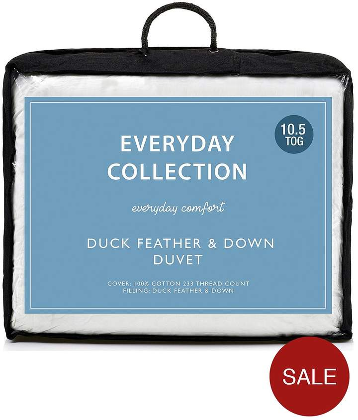 Buy Everyday Collection Duck Feather And Down 10.5 Tog Duvet!