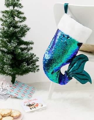 Paperchase Holidays mermaid stocking decoration