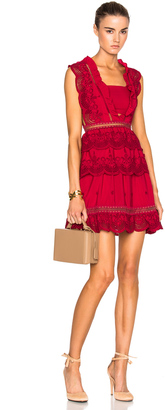 self-portrait Tiered Peplum Lace Dress $445 thestylecure.com