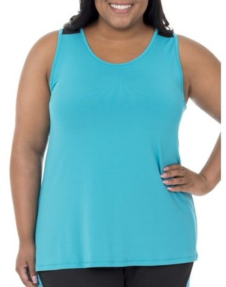 Fruit of the Loom Fit for Me by Women's Plus-Size Graphic and Solid Tank