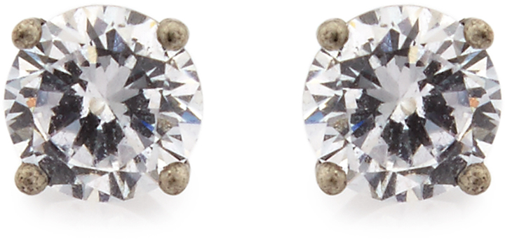 Bottega Veneta BOTTEGA VENETA Cubic-zirconia and silver earrings