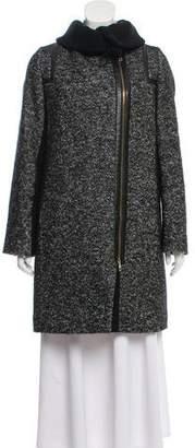 HUGO BOSS Boss by Wool-Blend Knee-Length Coat