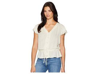 Lucky Brand It Girl Flutter Sleeve Top Women's T Shirt