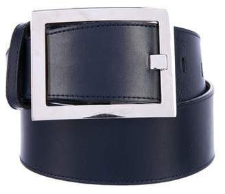 Calvin Klein Collection Leather Waist Belt
