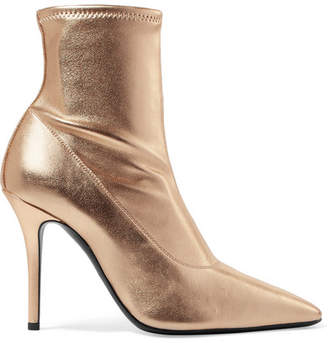 Giuseppe Zanotti Notte Metallic Leather Sock Boots - Gold