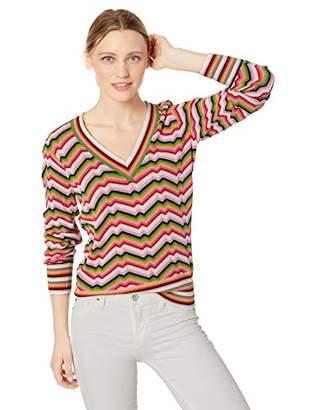 9b568a7a8 Trina Turk Women s Take Off V Neck Zig Zag Sweater