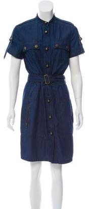 Lanvin Short Sleeve Denim Dress