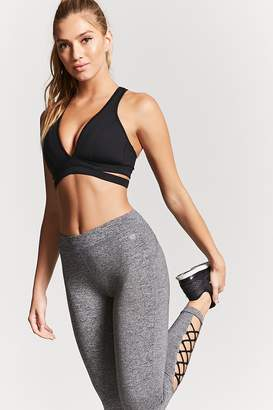 Forever 21 Active Strappy Heathered Leggings
