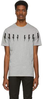 Neil Barrett Grey Lightning Bolt T-Shirt