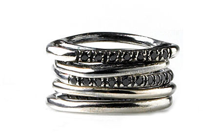 Iosselliani Sterling Ring Stack