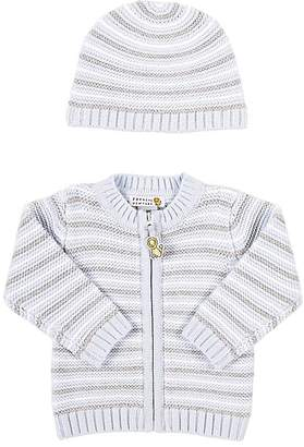 Barneys New York Infants' Striped Cardigan & Hat