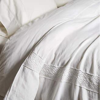 Matteo Crochet Duvet Cover - White