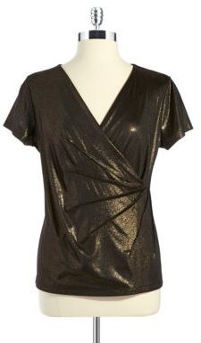 Calvin Klein Metallic Wrap Shirt