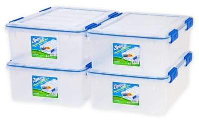 Ziploc® WeatherShield 26.5 qt. Storage Boxes in Clear (Set of 4)