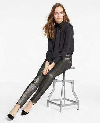 Ann Taylor The Petite Ankle Pant In Golden Shimmer