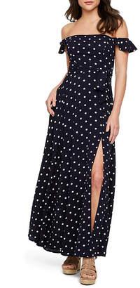 c4b53acfdabcbd PREMIER AMOUR Premier Amour Off The Shoulder Polka Dots Maxi Dress