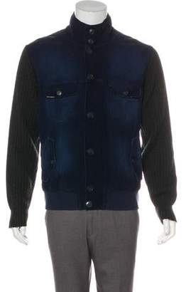 Dolce & Gabbana Corduroy-Front Wool-Blend Jacket