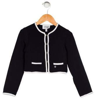 Armani Junior Girls' Long Sleeve Cardigan