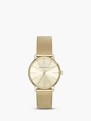 Armani Exchange Women's Mesh Bracelet Strap Watch