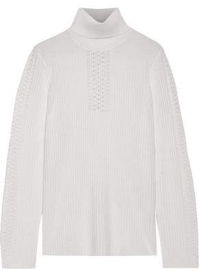 0d7c4013493e2 Elie Tahari Maelee Ribbed Merino Wool Turtleneck Sweater
