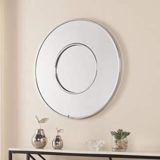Southern Enterprises Mya Oversized Round Decorative Mirror, Glam Style, Chrome