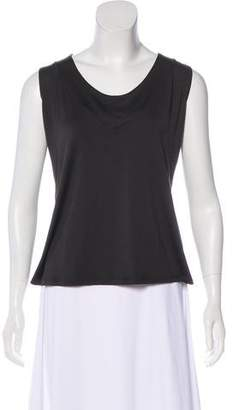 Armani Collezioni Scoop Neck Sleeveless Top