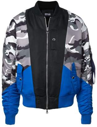 Mostly Heard Rarely Seen camouflage print bomber jacket