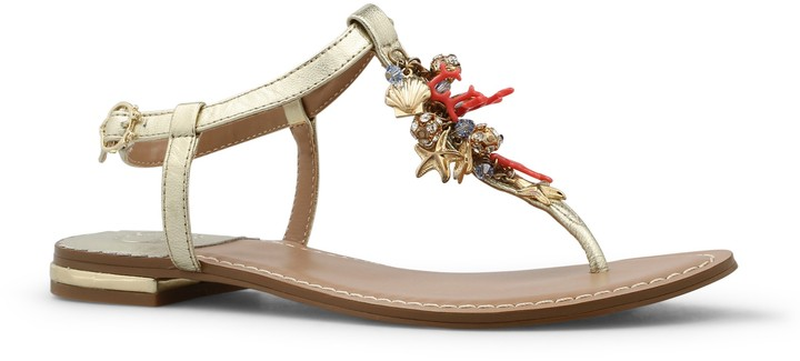 C. Wonder Nappa Leather Nautical Chain Sandal