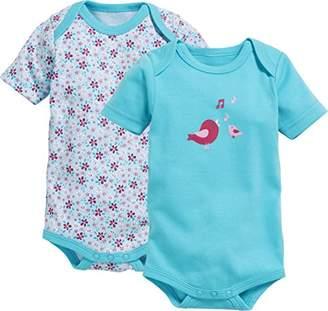 Playshoes Baby Kurzarm, 2er Pack Vögelchen, Oeko-Tex Standard 100 Bodysuit,(Manufacturer Size: 74/80)