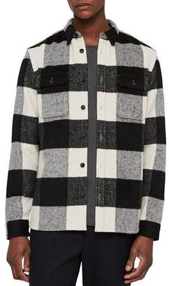 AllSaints Laona Checked Regular Fit Button-Down Shirt