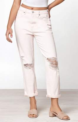PacSun Convertible Pink Mom Jeans