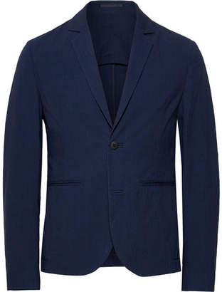 Folk Navy Counter Unstructured Stretch-Cotton Suit Jacket