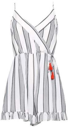 Tart Collections Wrap-effect Striped Woven Playsuit