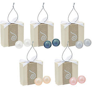Honora Cultured Pearl Set of 5 8.0mm BoxedStud Earrings