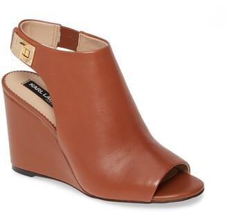 Karl Lagerfeld Paris Rowa Wedge Shield Sandal