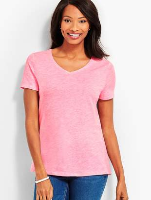 Talbots Space-Dyed V-Neck Tee