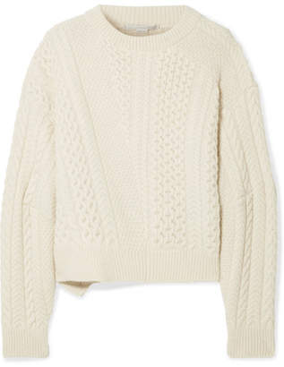 Stella McCartney Oversized Cable-knit Wool And Alpaca-blend Sweater - Cream