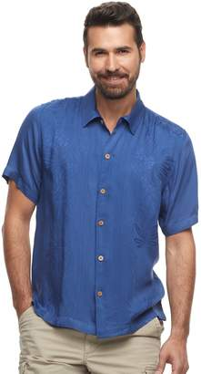 Caribbean Joe Men's Casual Fiji Floral Button-Down Shirt