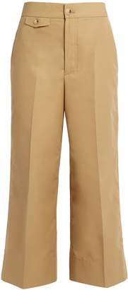 Helmut Lang High-rise wide-leg cotton-faille trousers