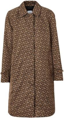 Burberry Keatsbridge single breasted Monogram print coat