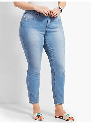 Talbots Plus Size Exclusive Denim Slim Ankle Jean - Beach Glass