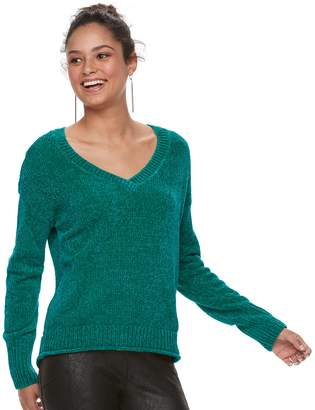 Mudd Juniors' Chenille Sweater