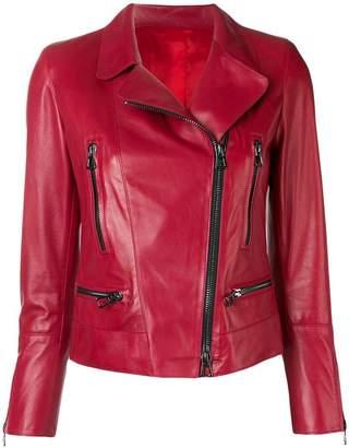 Sylvie Schimmel fitted biker jacket