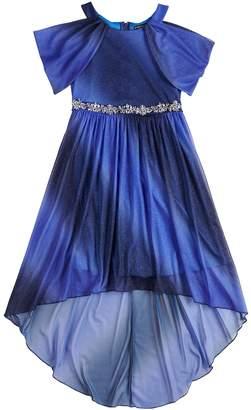 My Michelle Girls 7-16 Glitter Off-the-Shoulder Dress