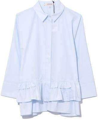Schumacher Dorothee Daydream Blouse in Cloudy Sky