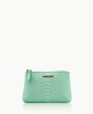 GiGi New York Small Cosmetic Case In Aegean Embossed Python
